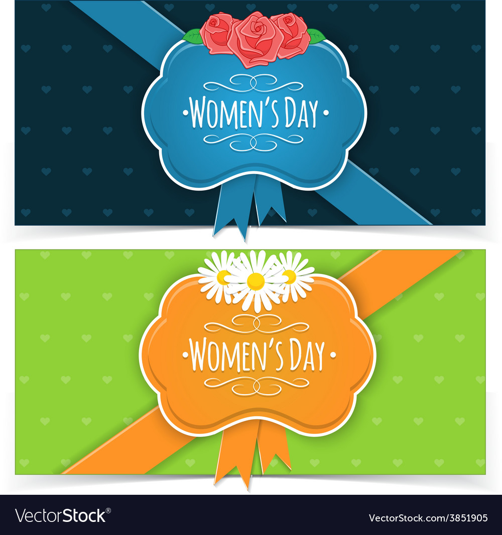 Women Day banners