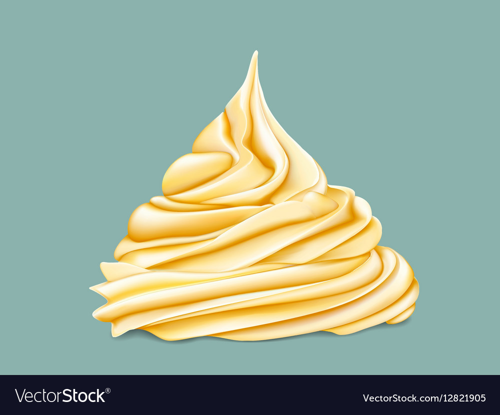 Yellow tiered twisted cream