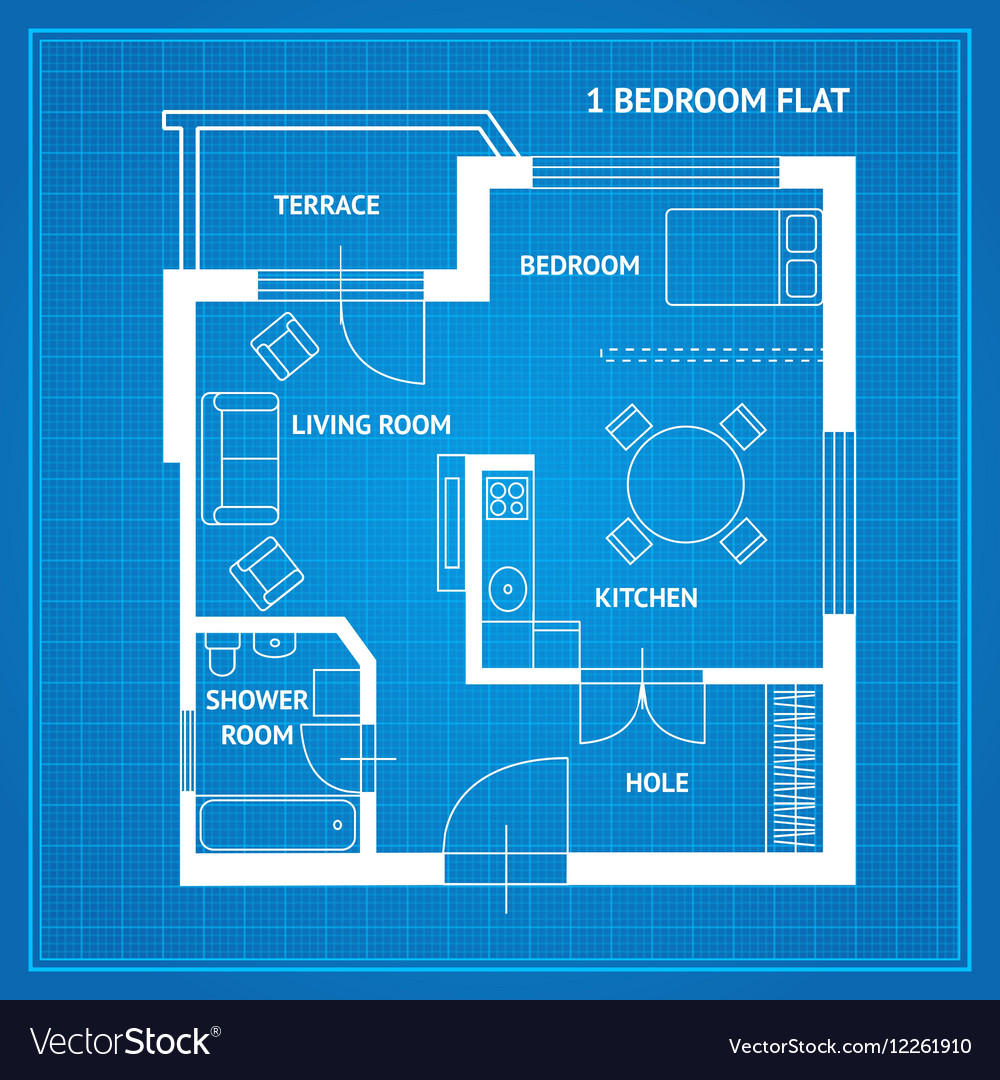 Apartment Floor Plan Blueprint