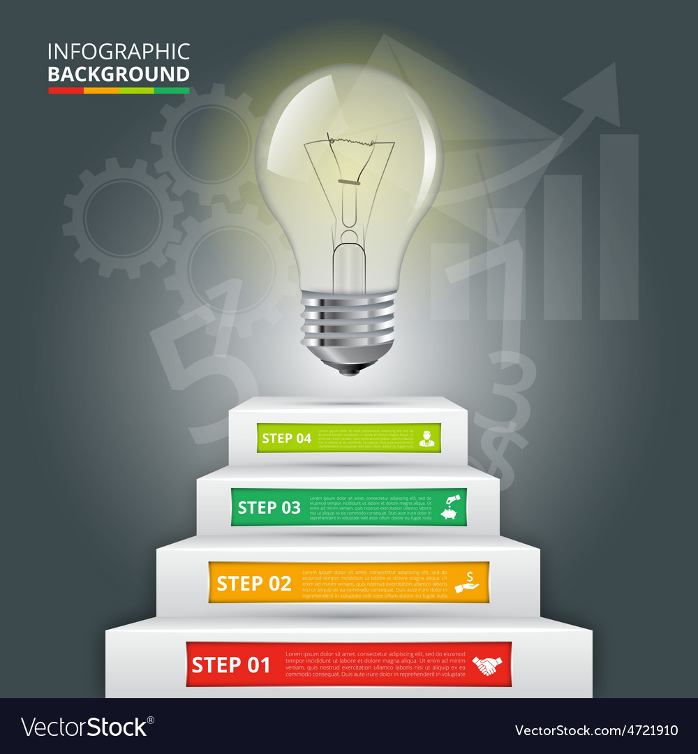 Business staircase conceptual infographic