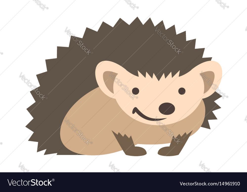 Cute smiling hedgehog kids cartoon
