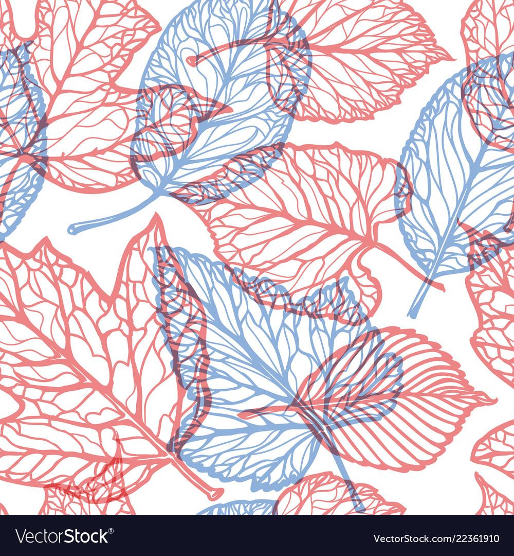 Floral pattern decorative leaves nature concept