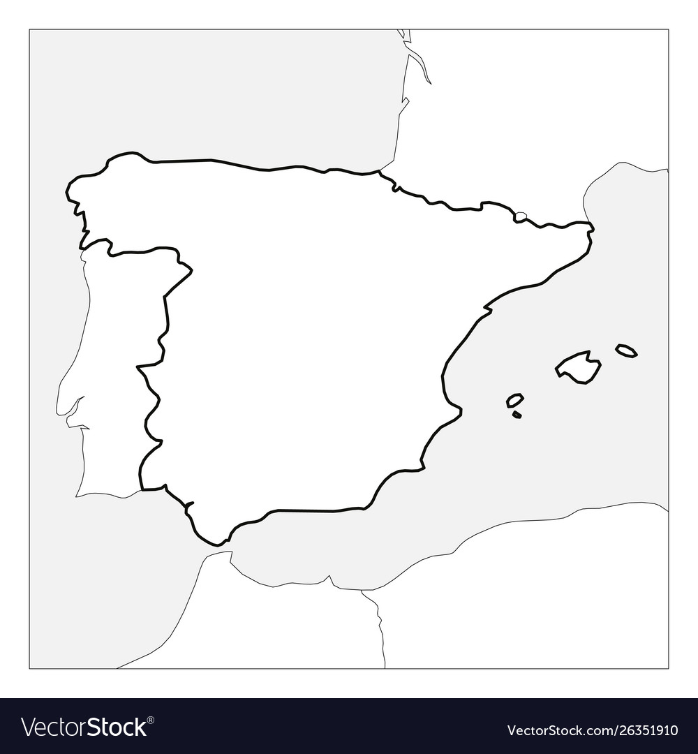 Picture of: Blank Map Spain Vector Images 58