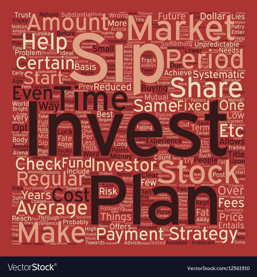 SIP Systematic Investment Plan text background