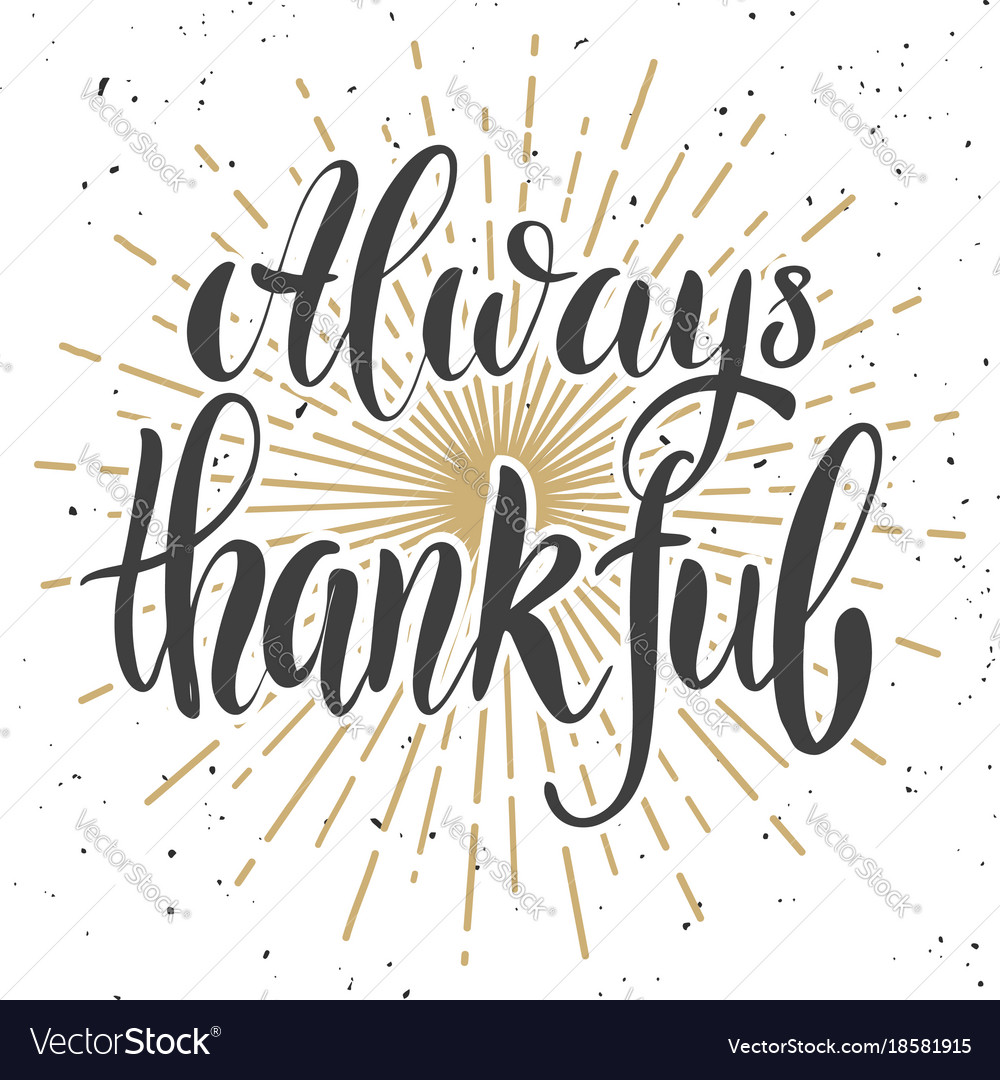 Always thankful design element for poster banner
