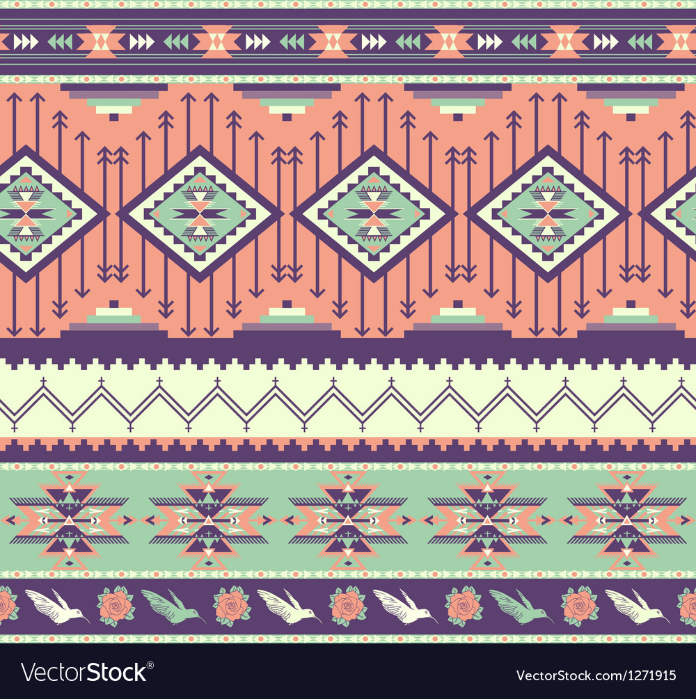 Aztecs Seamless Pattern On Pink Color Royalty Free Vector