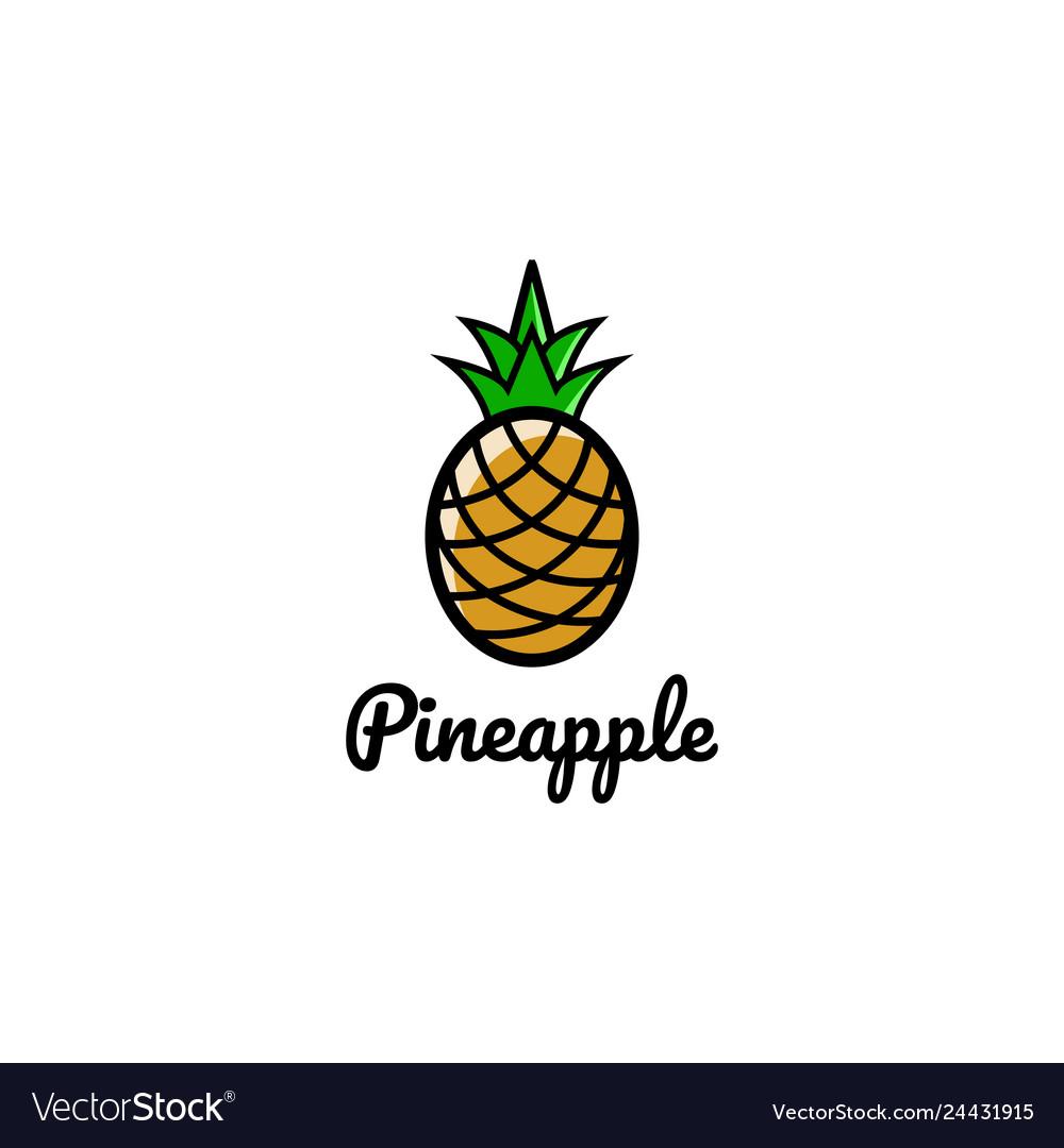 Creative artistic pineapple fruit logo symbol