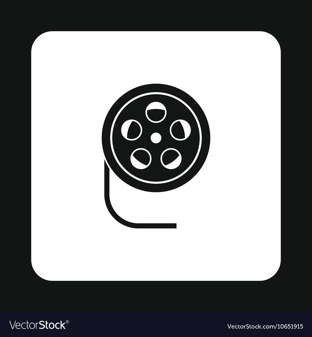 Film reel icon simple style