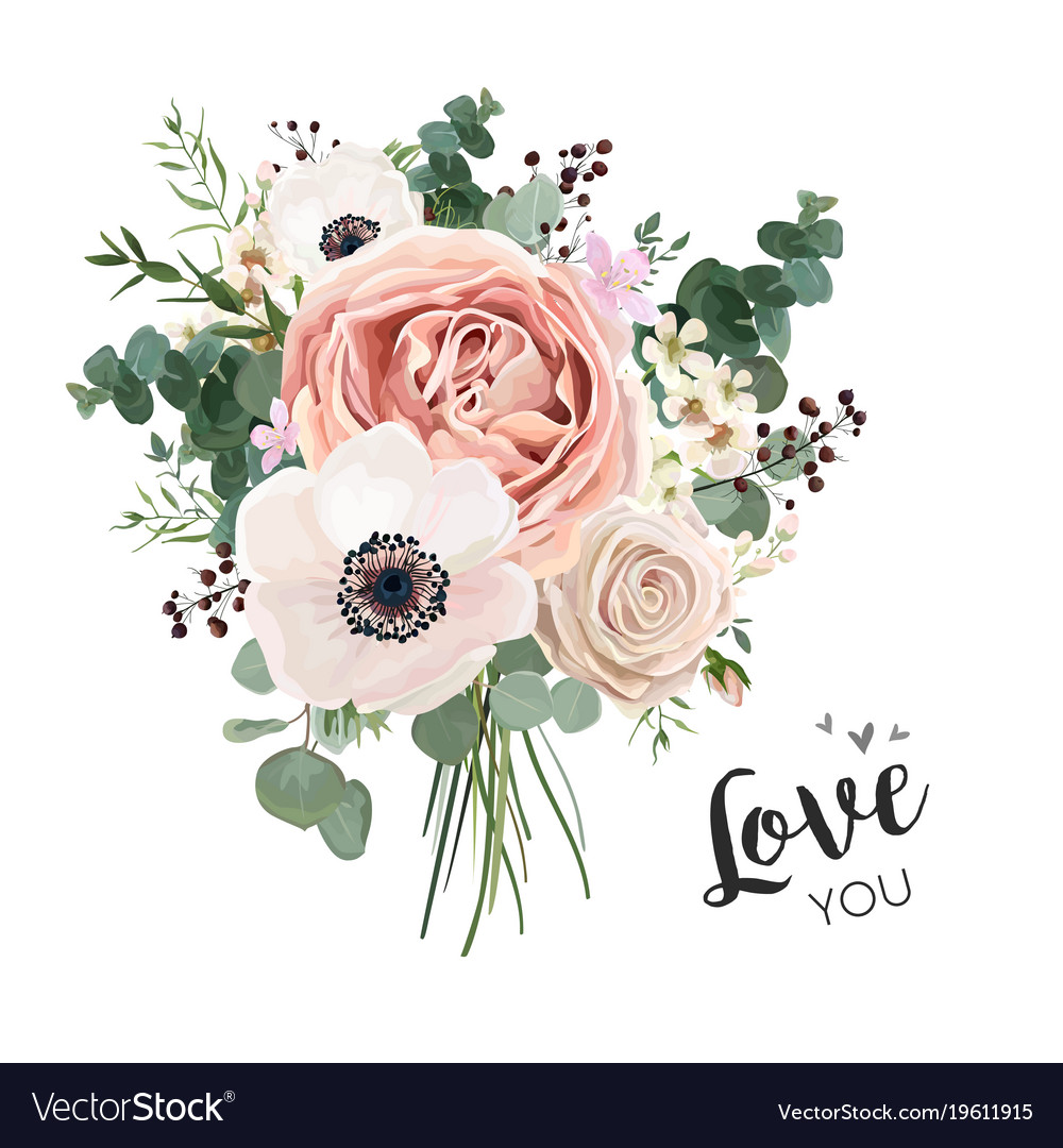 Flower bouquet floral bunch boho design object vector image izmirmasajfo