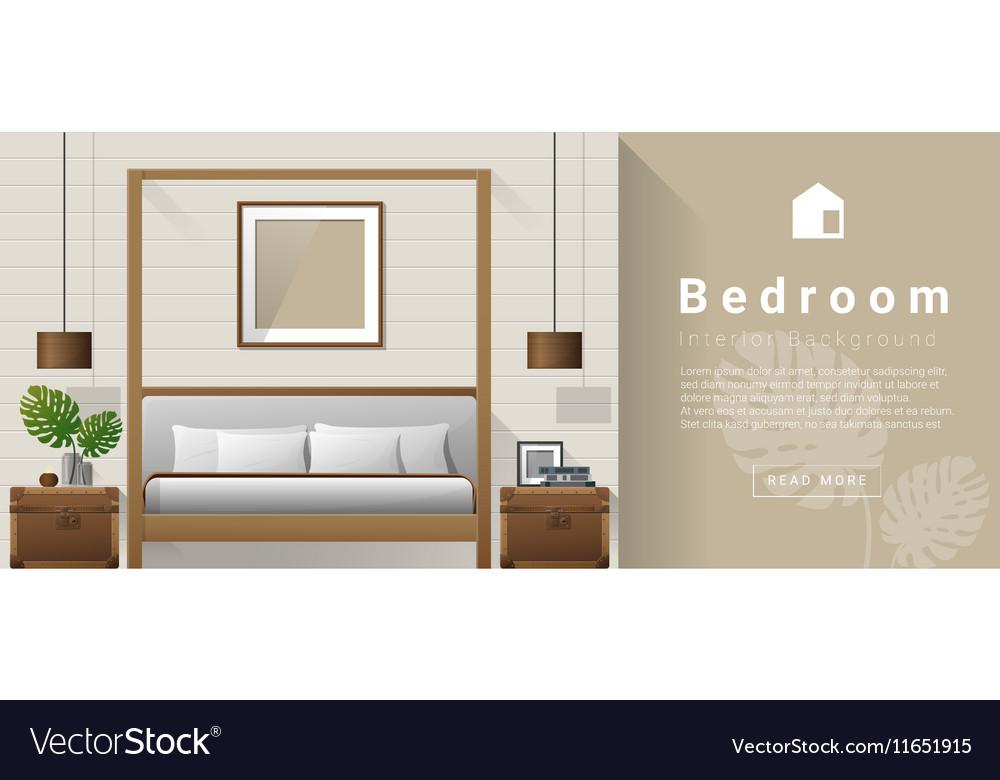 Interior Design Modern Bedroom Background 7 Vector Image