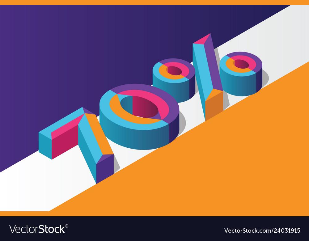 Isometric 70 percent off 3d sale background