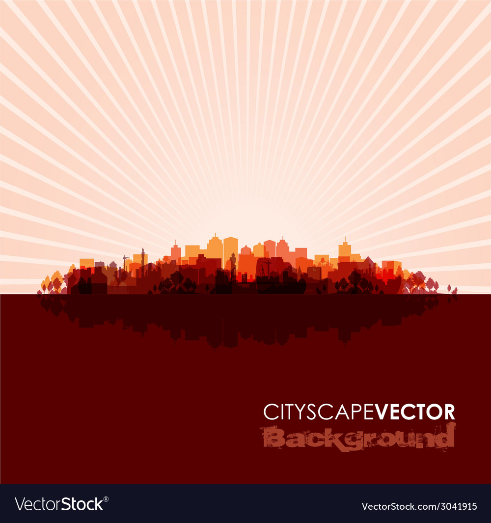 Red cityscape vector image