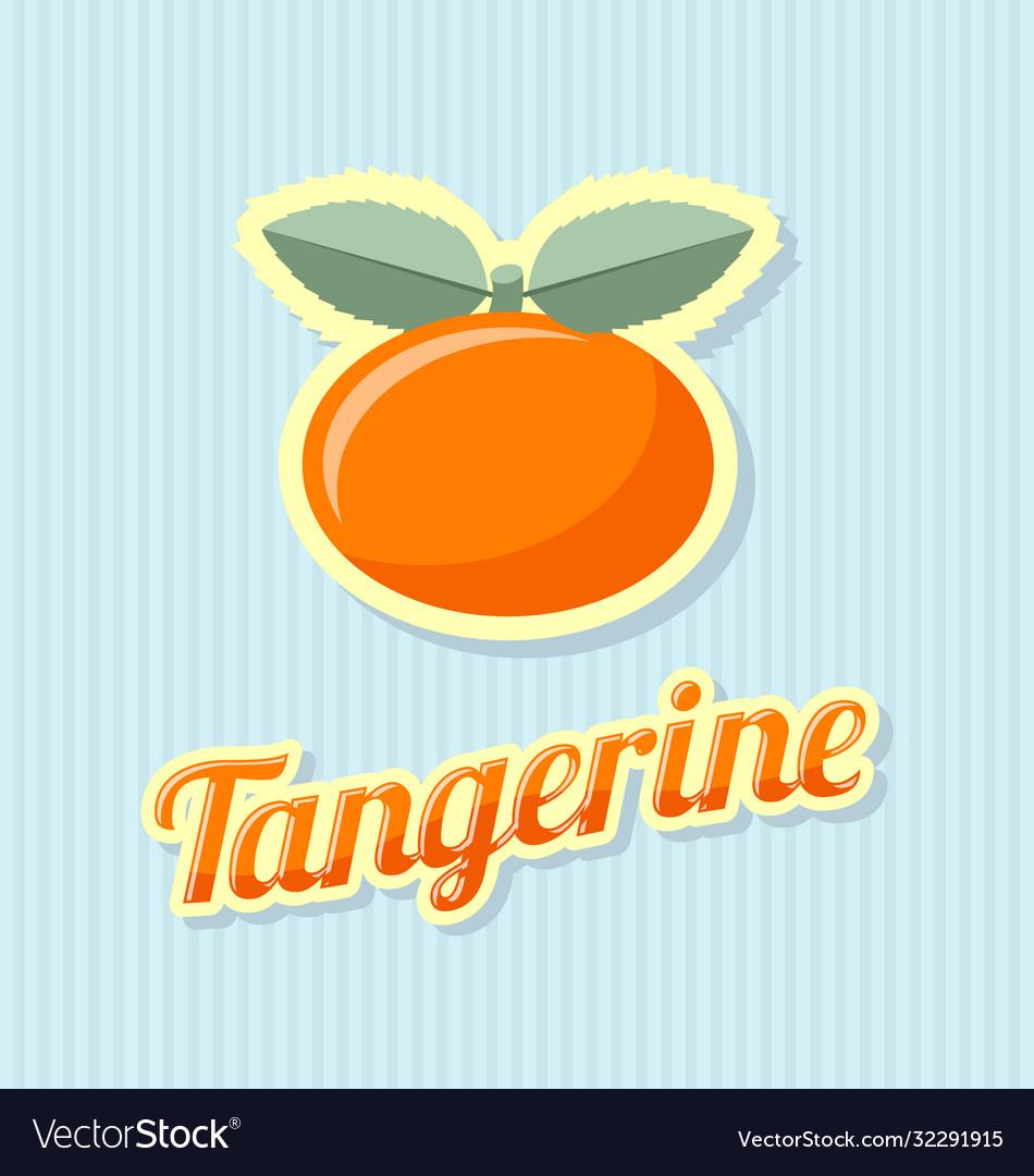 Retro tangerine on striped background