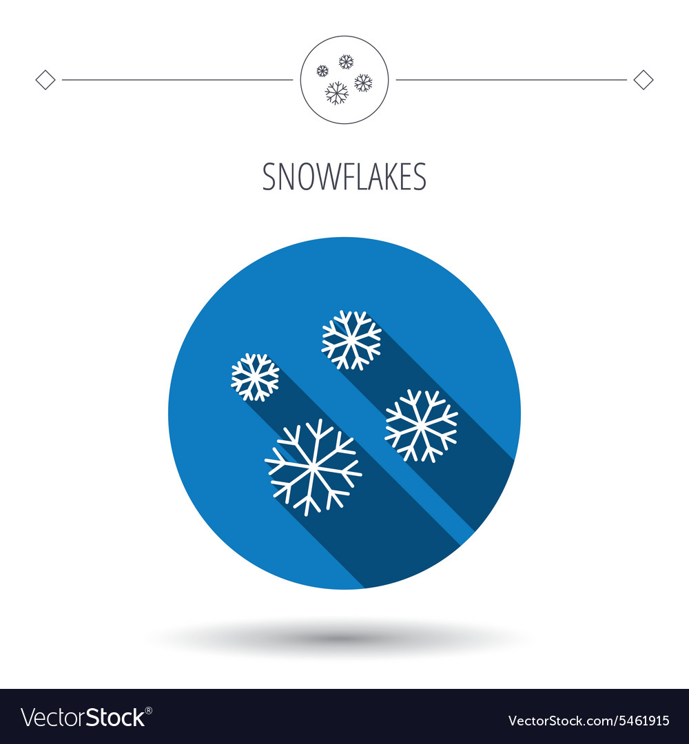 Snowflakes icon Snow sign Air conditioning