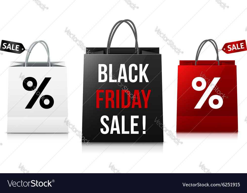 White black and red Black Friday Sale shopping