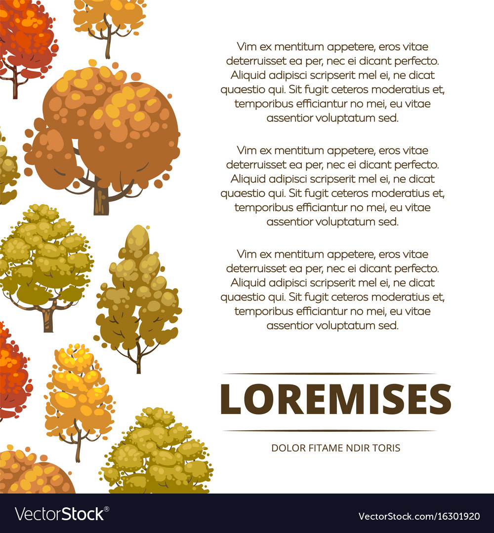 Autumn background poster design with colorful
