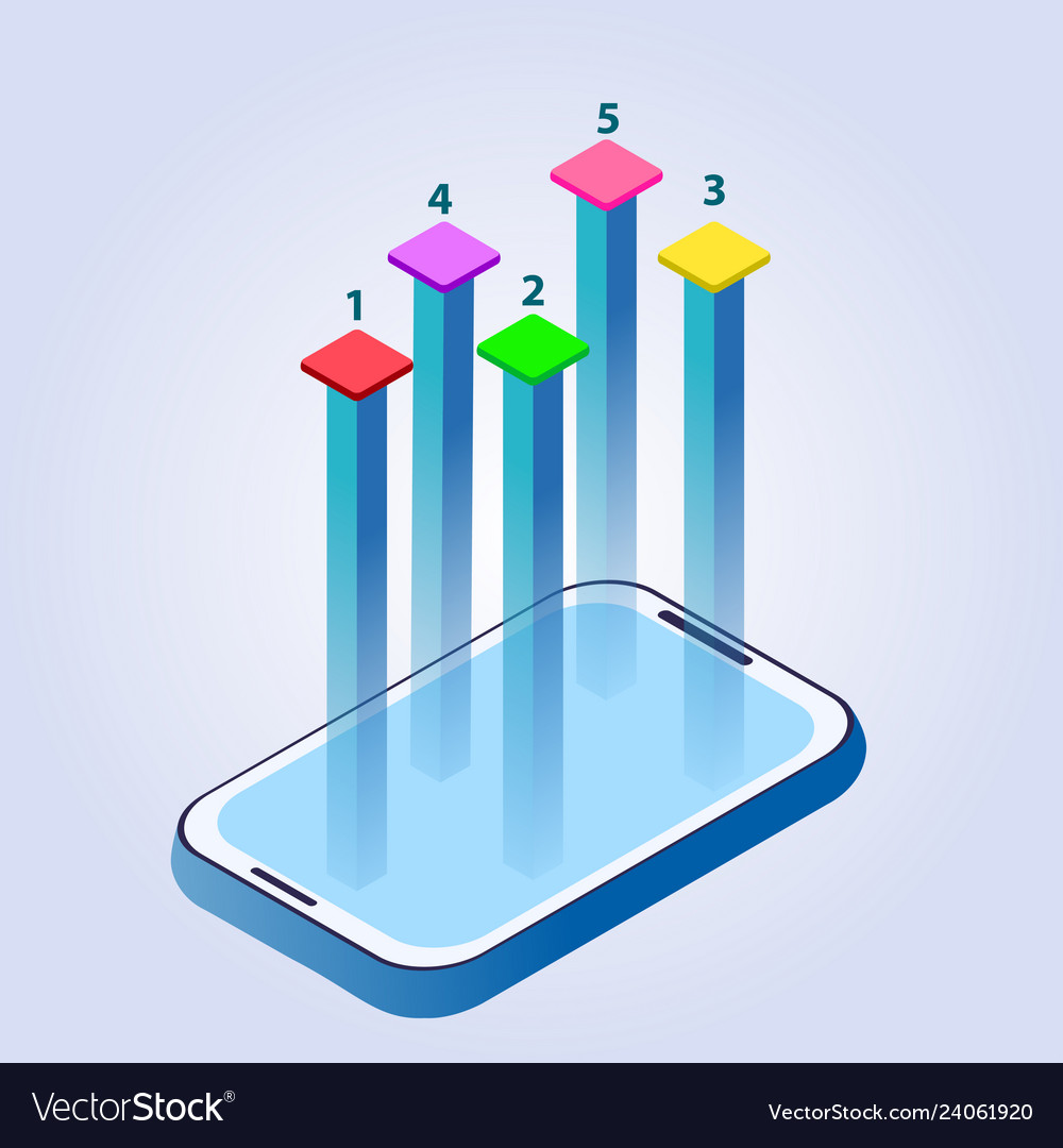 Business infographics in the phone