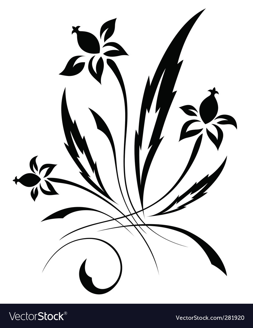 black and white floral pattern. lack and white floral pattern