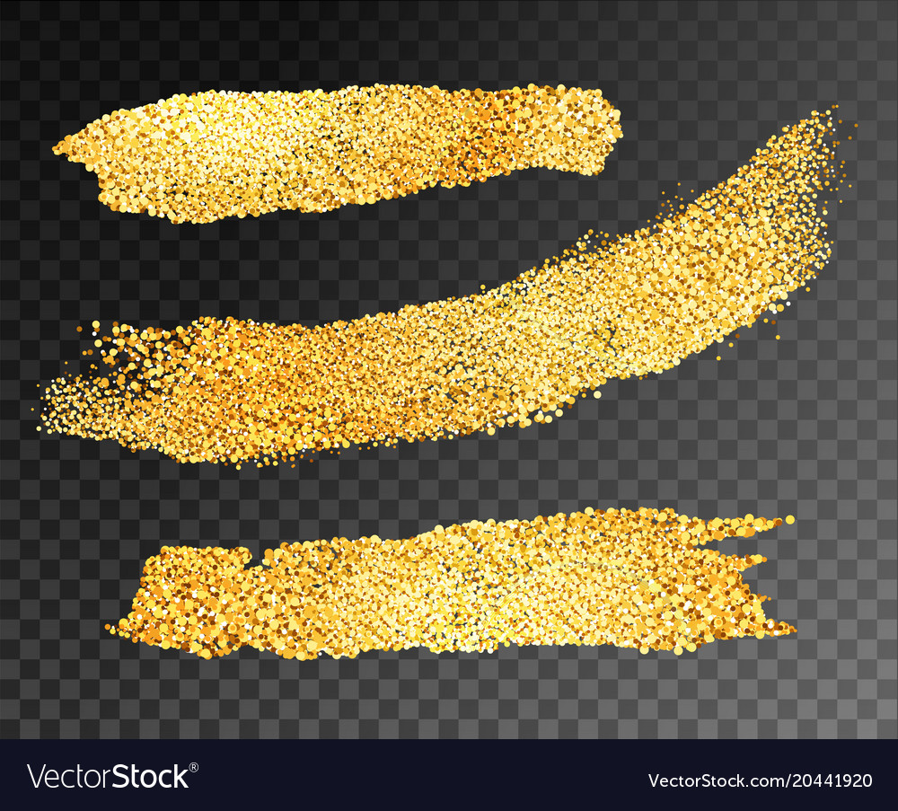 Gold paint strips