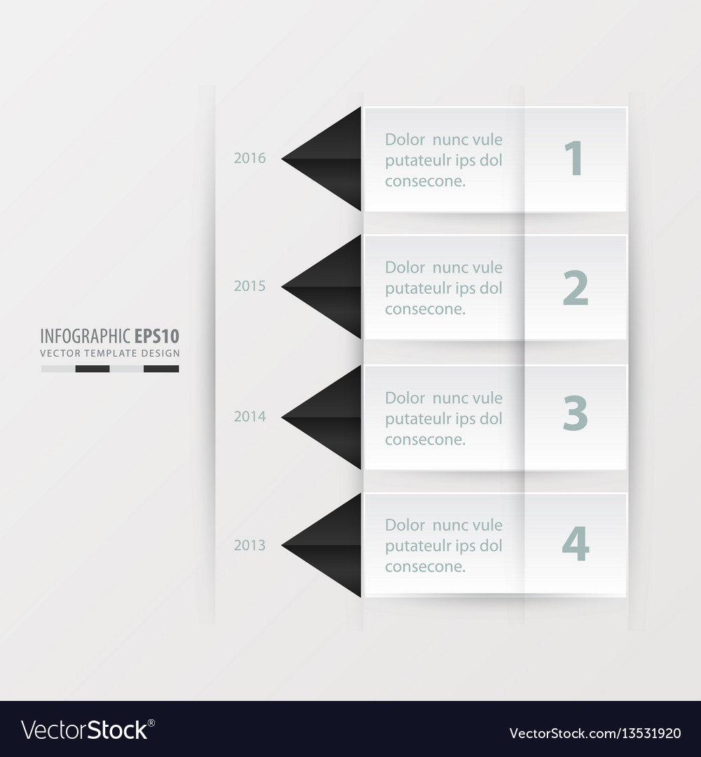 Timeline report template black and white color vector image