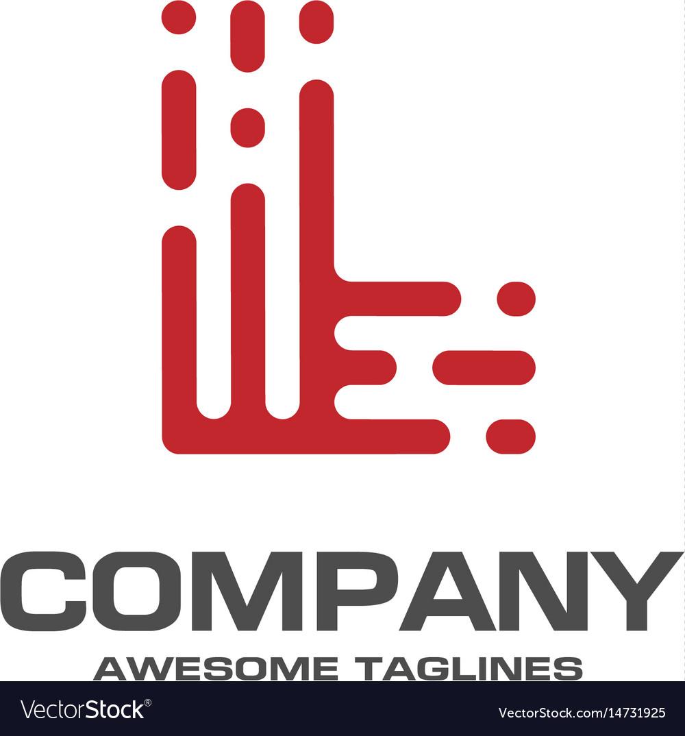 Creative letter l line logo design