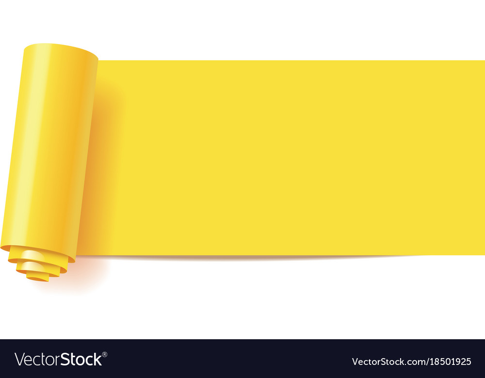 Curl of yellow paper