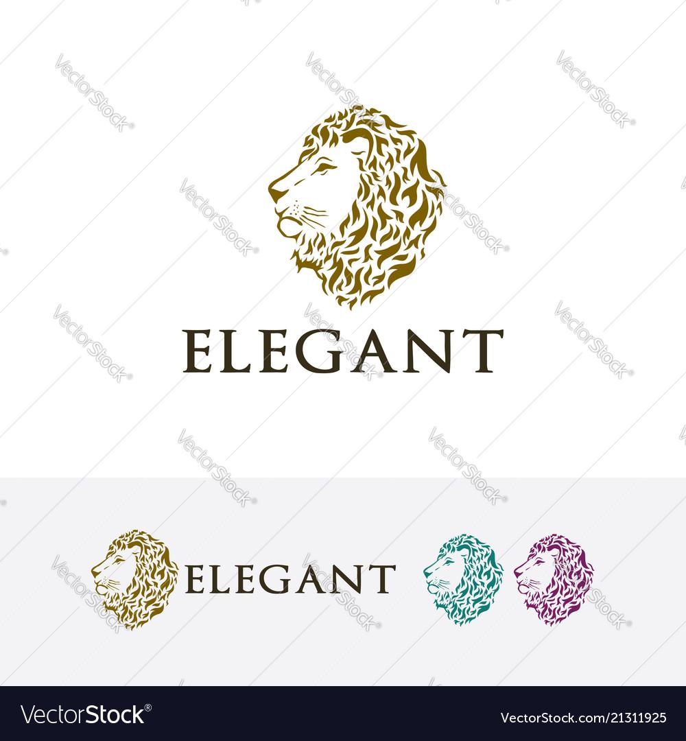 Elegant lion logo design