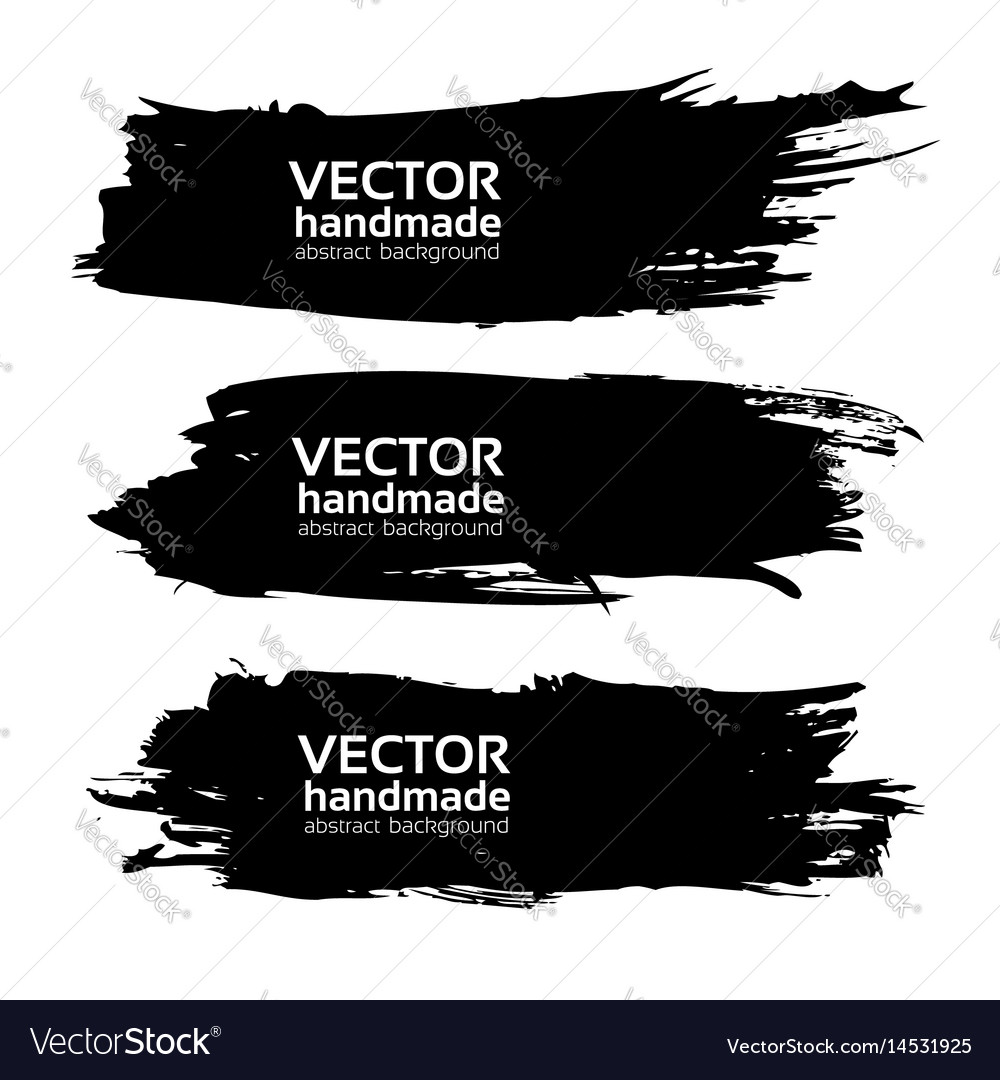 Gig long black ink strokes isolated on a white vector image