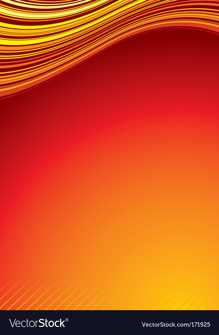 Heat background cover vector image