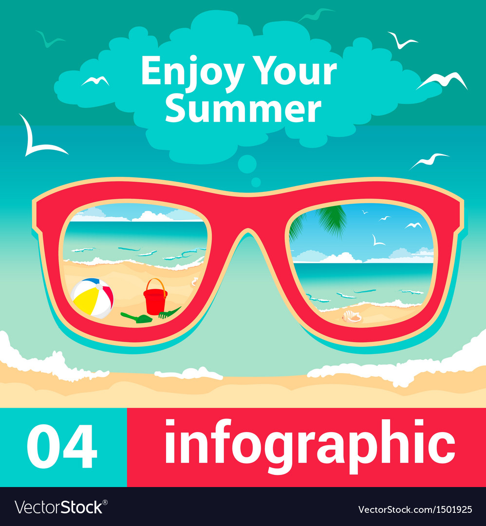 Infographic concept summer vector image