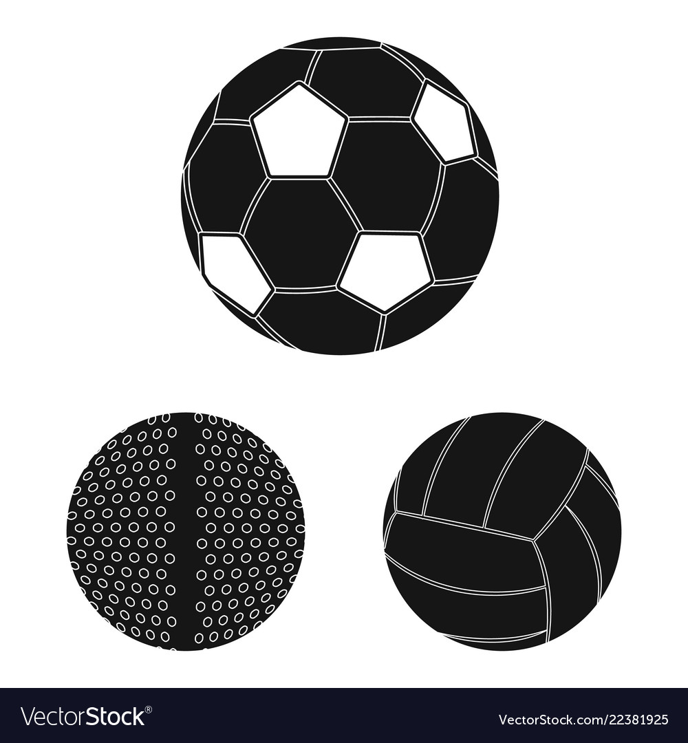 Isolated object of sport and ball sign collection
