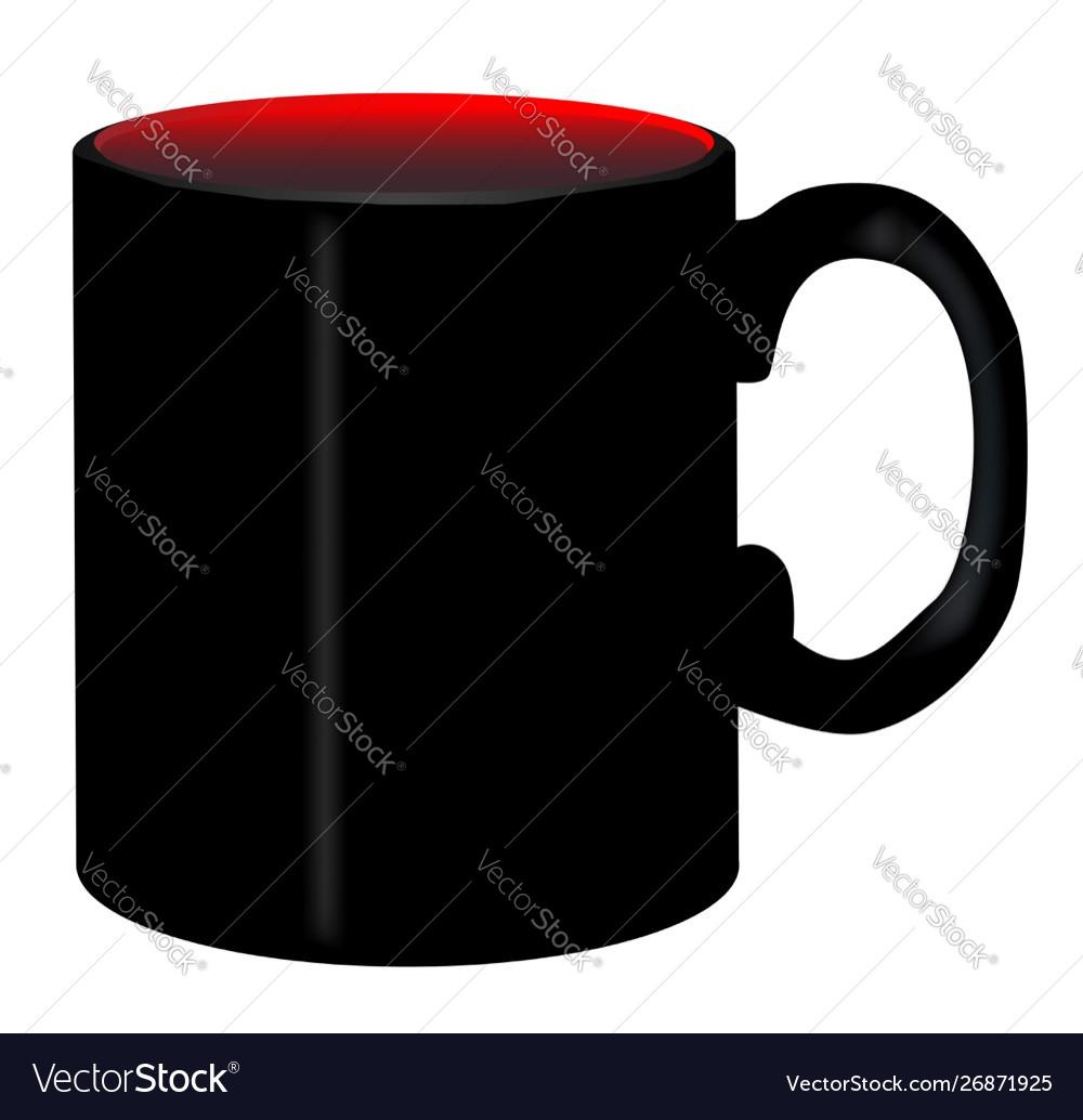 Plain Black Coffee Mug Royalty Free