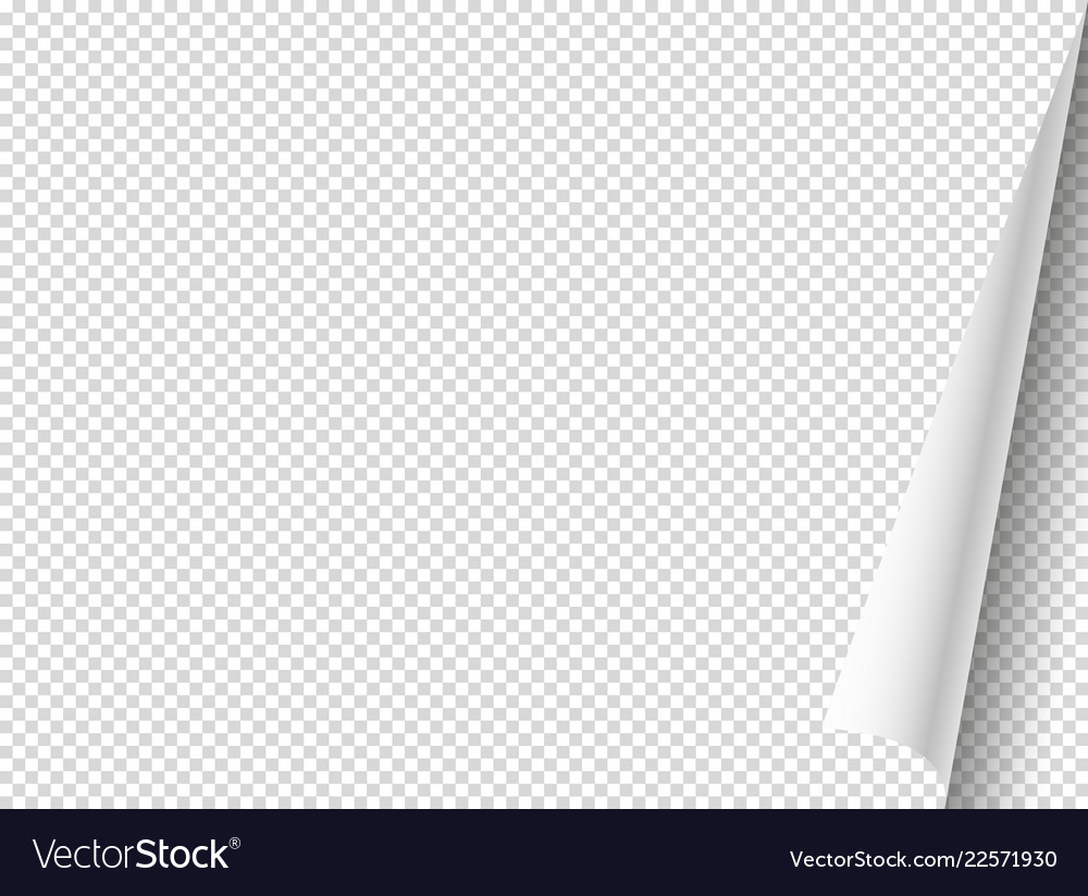 Bending paper mockup object isolated on