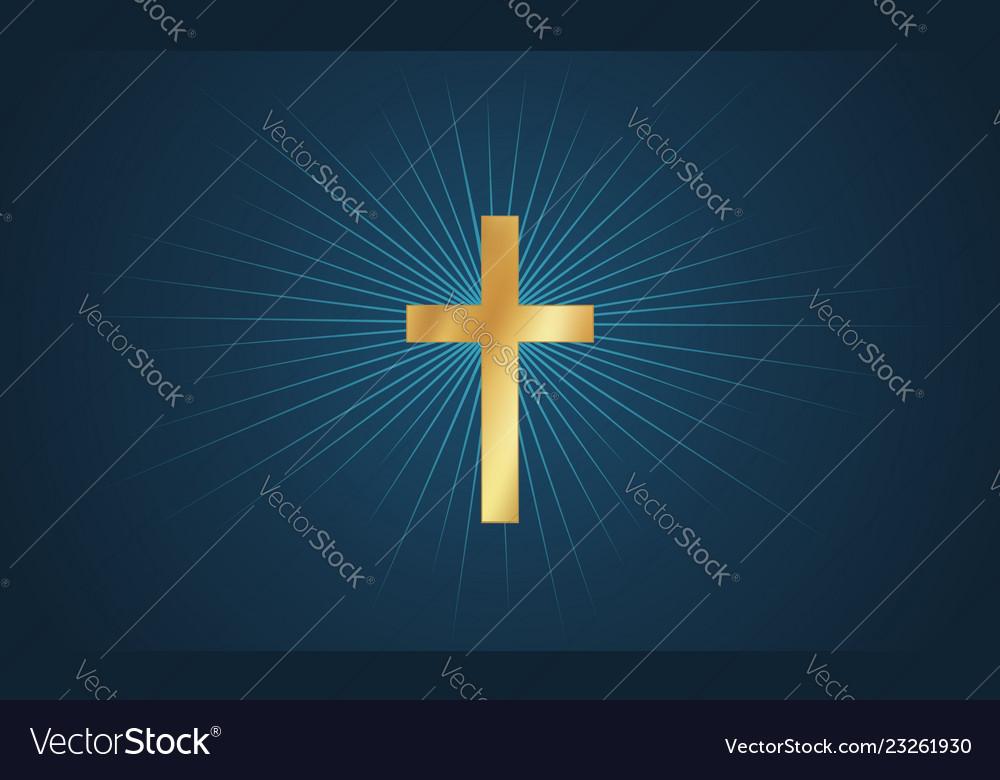 Cross in glow