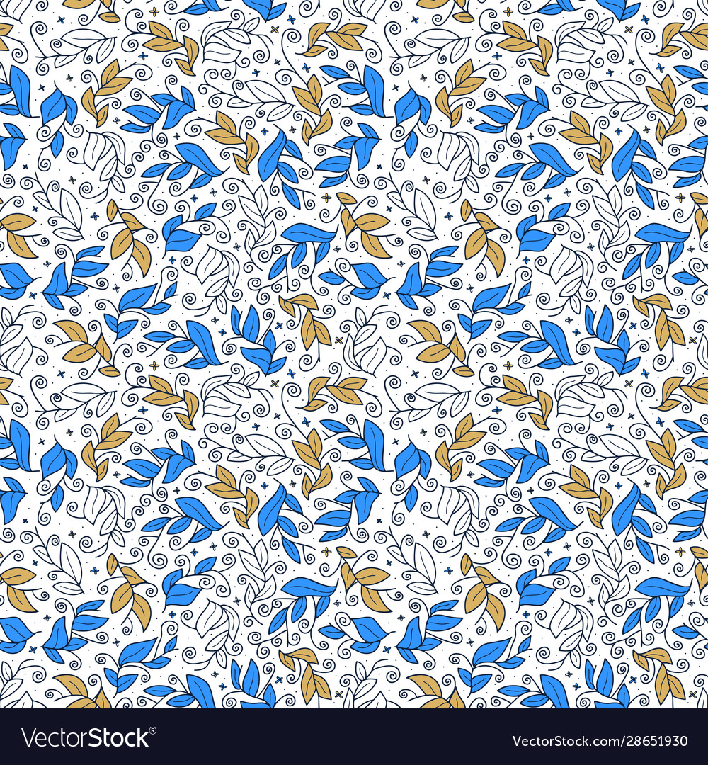Cute leaf seamless pattern abstract print