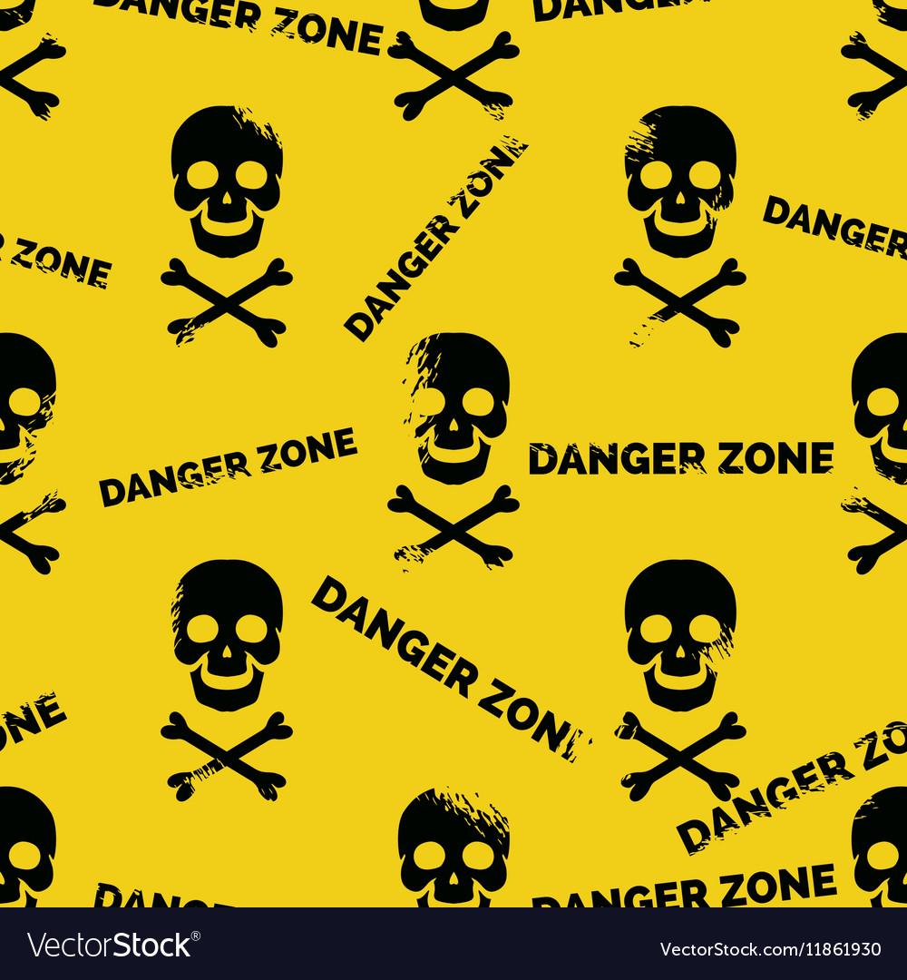 Danger zone seamless pattern