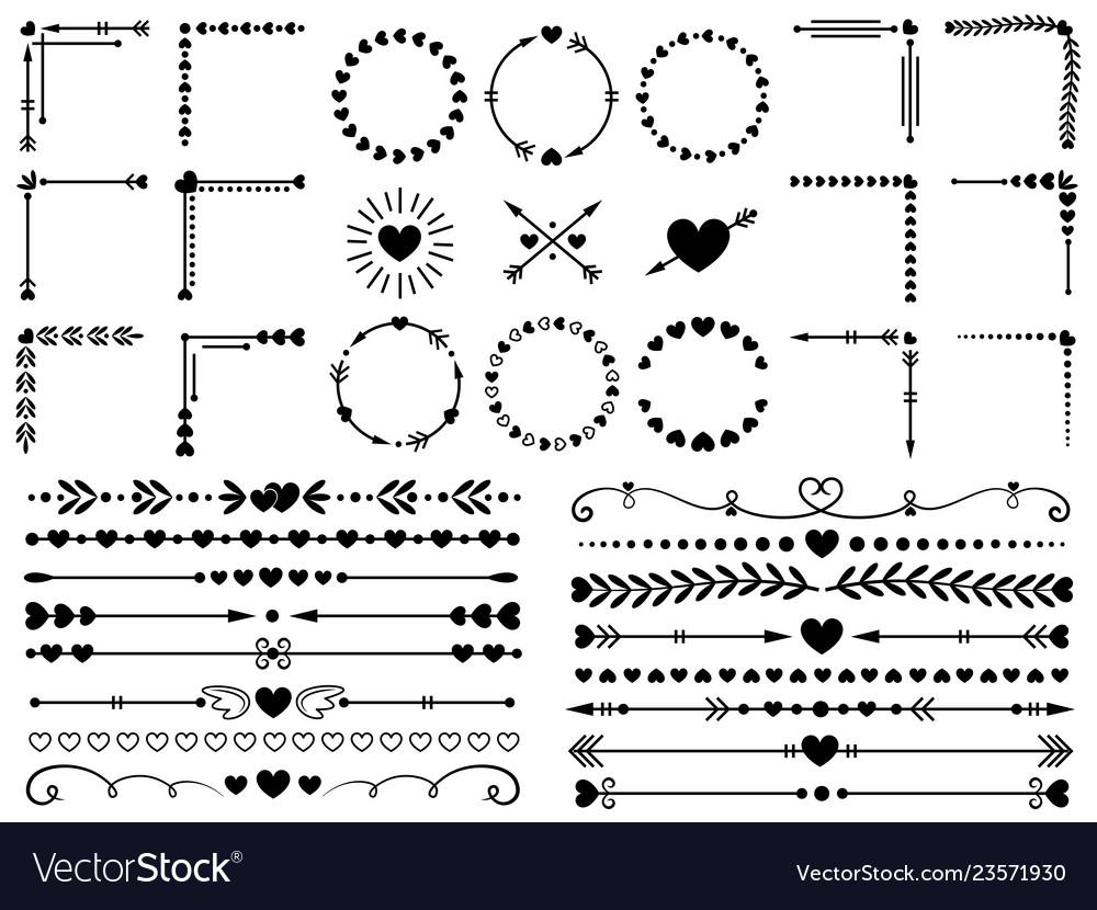 Love ornaments wedding hearts ornamental