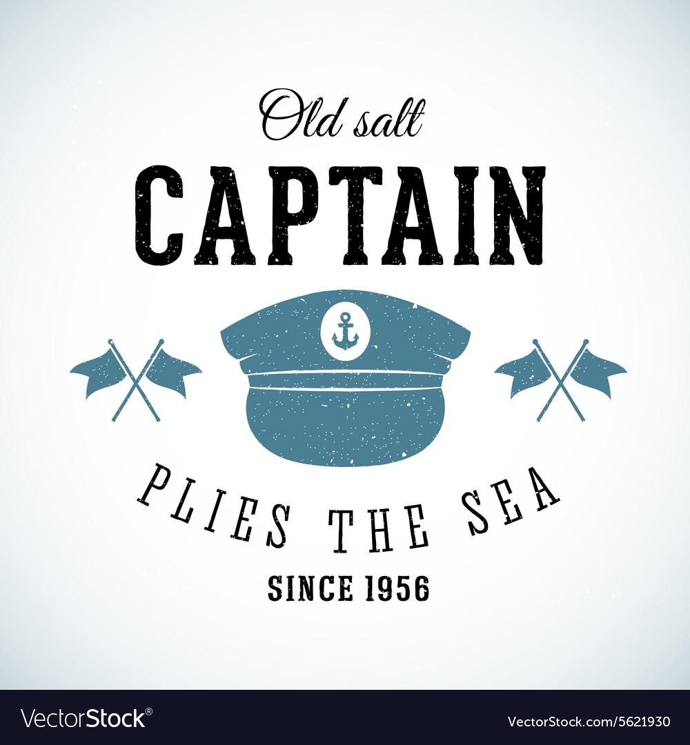 Old Salt Captain Vintage Marine Logo