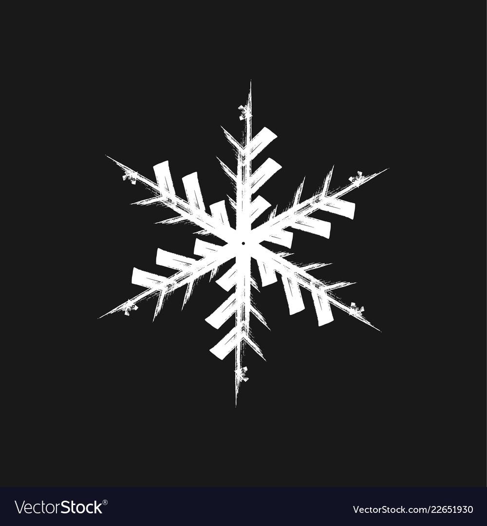 Paint brush snowflake