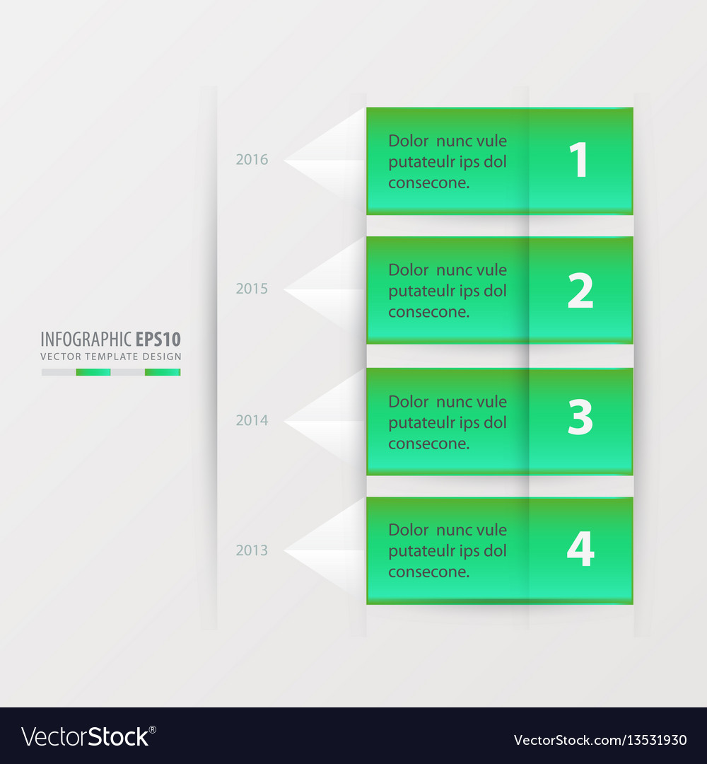 Timeline report template vector image
