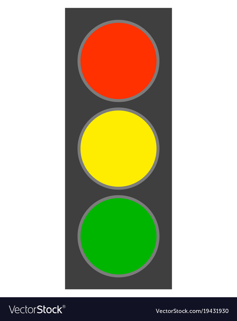 Traffic light on white