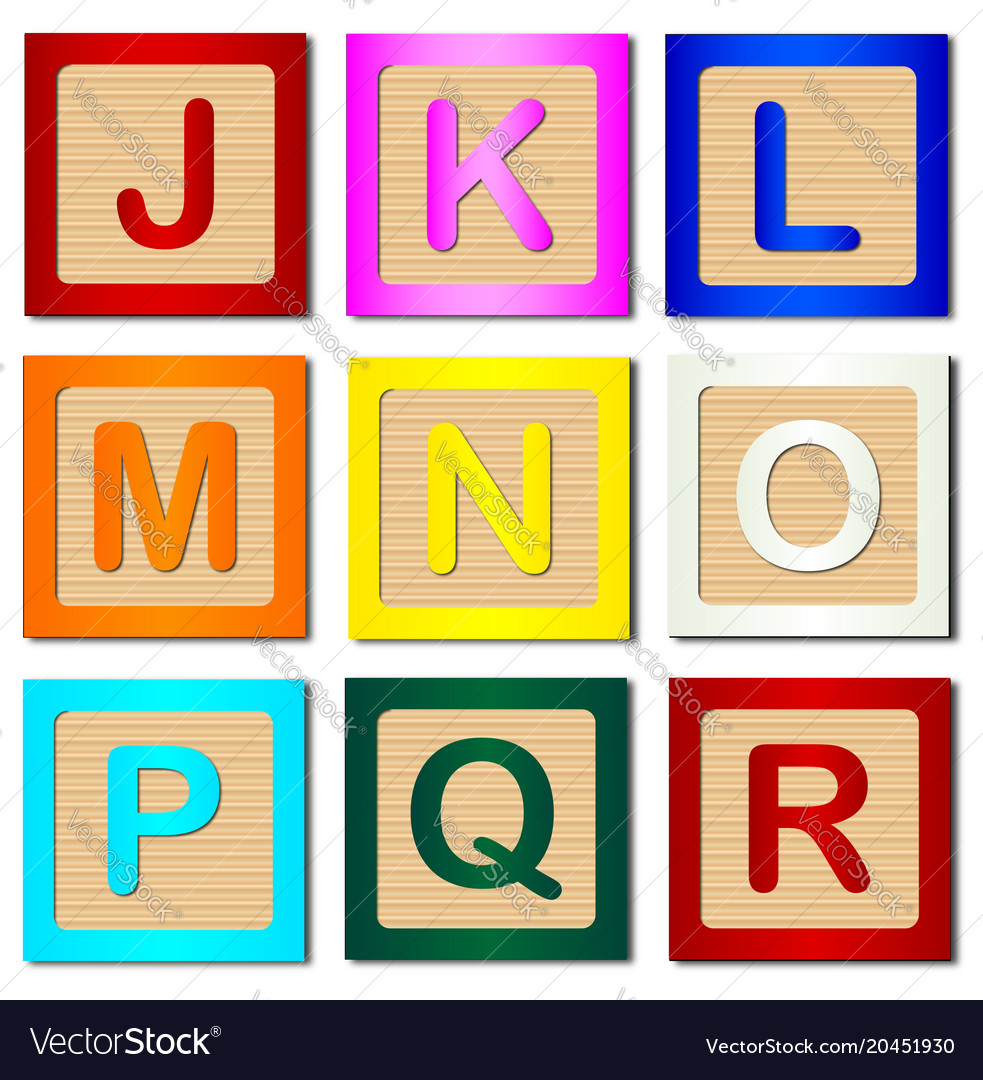 Wooden block letters j to r royalty free vector image wooden block letters j to r vector image thecheapjerseys Choice Image