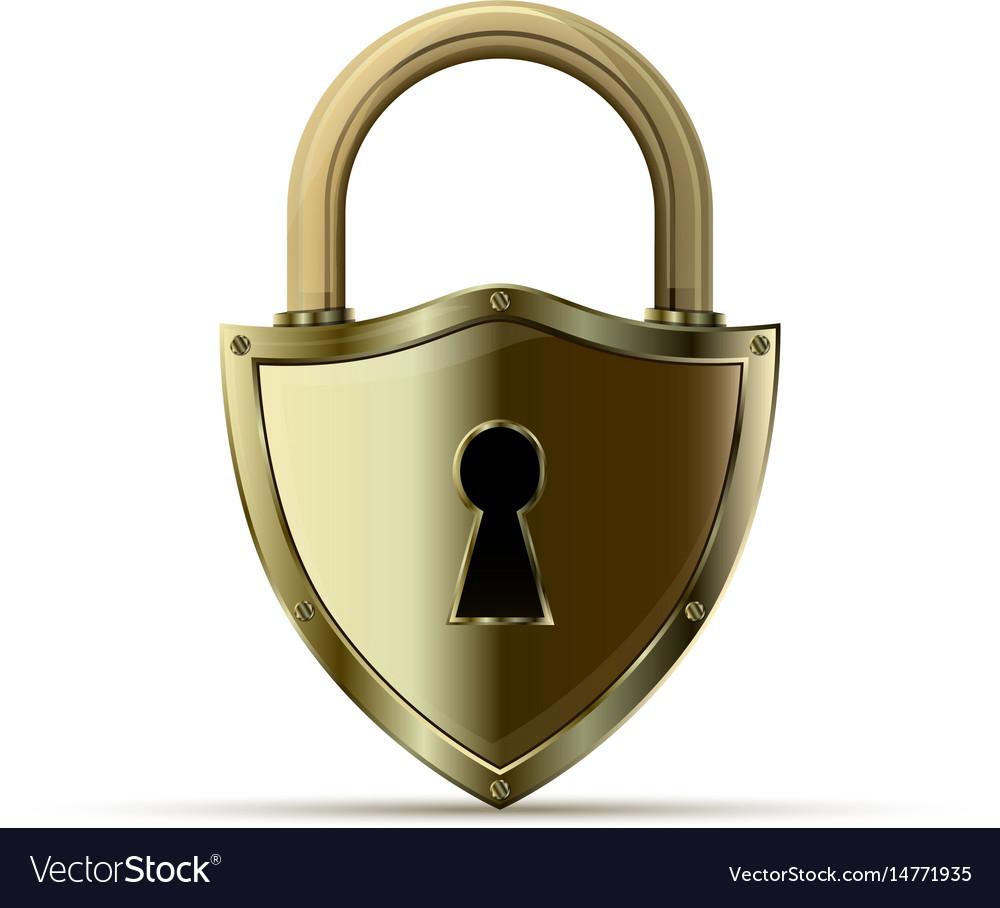 3d realistic closed padlock