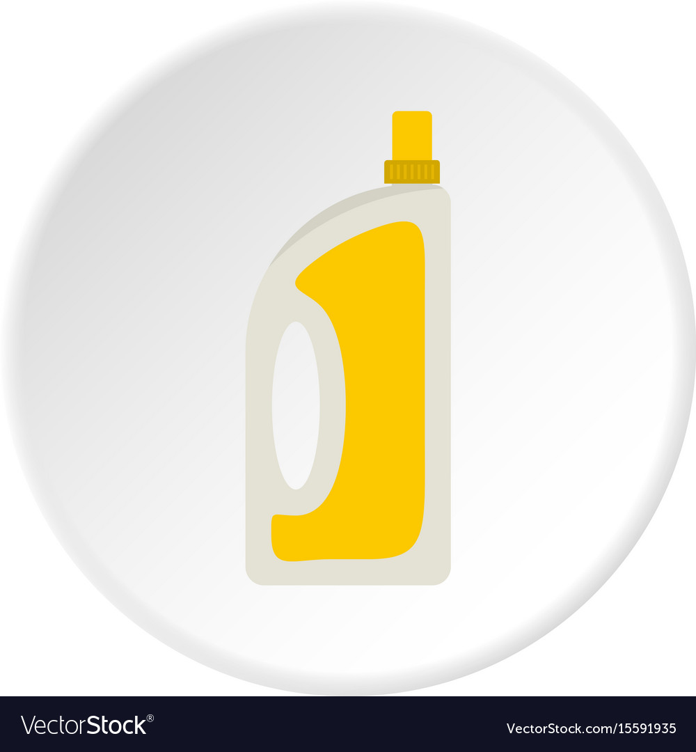 Bottle of conditioning or detergent icon circle