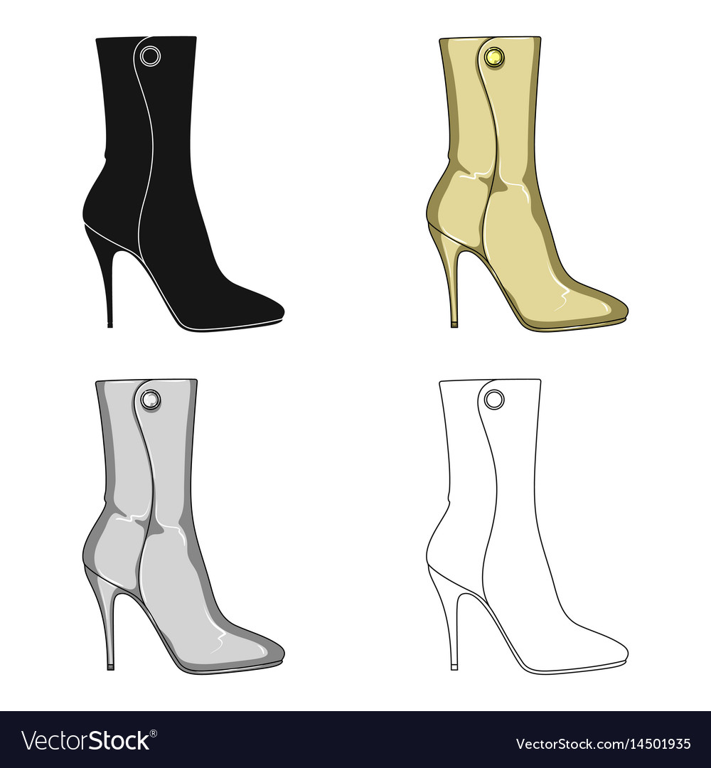0ac198c4b39 Demi tall womens boots high heeldifferent shoes Vector Image