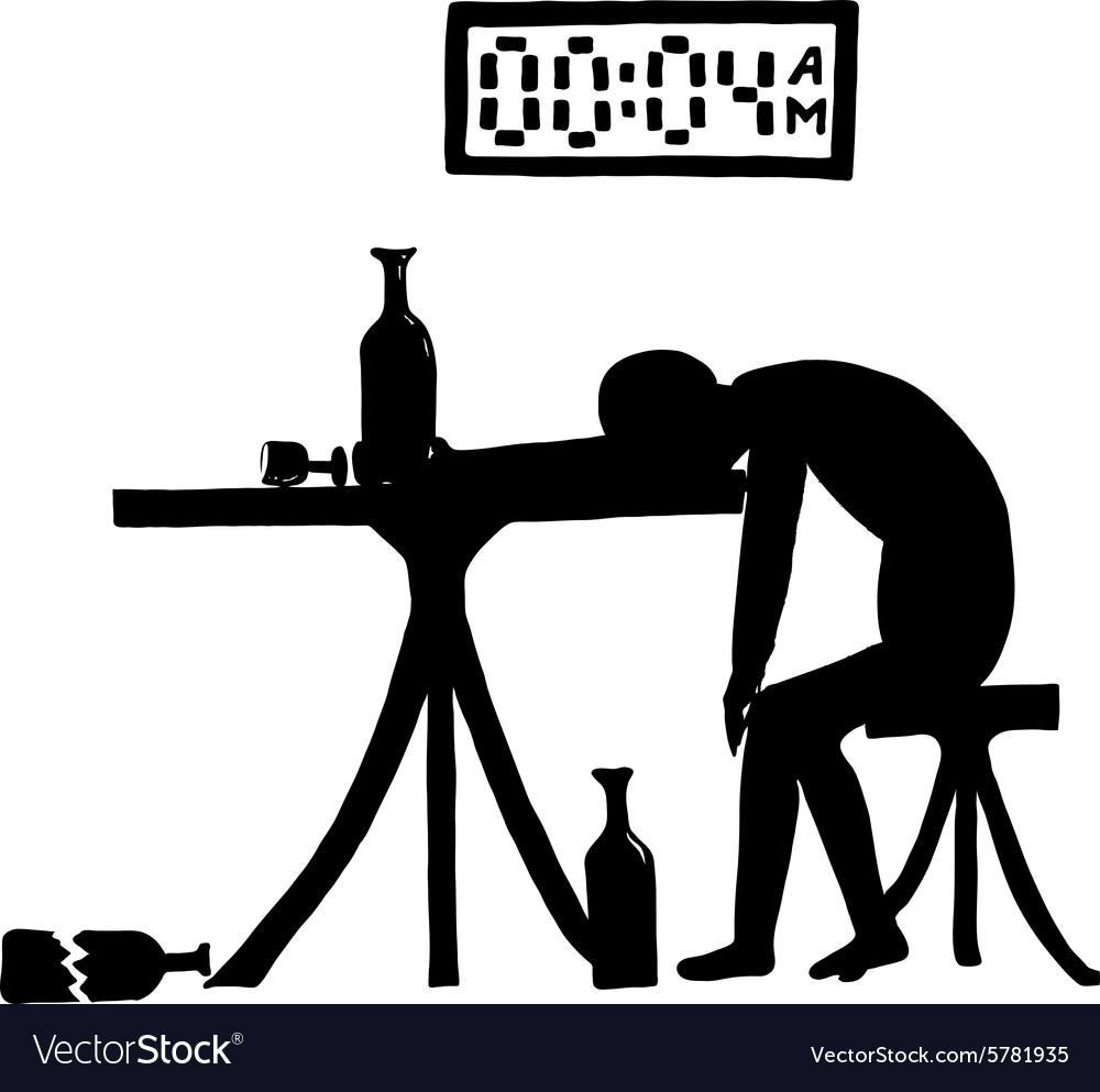Drunkard in the bar vector image