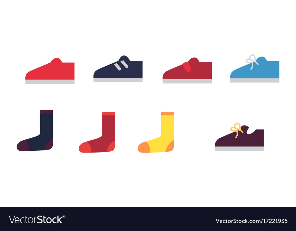 Men cartoon sneakers and socks set
