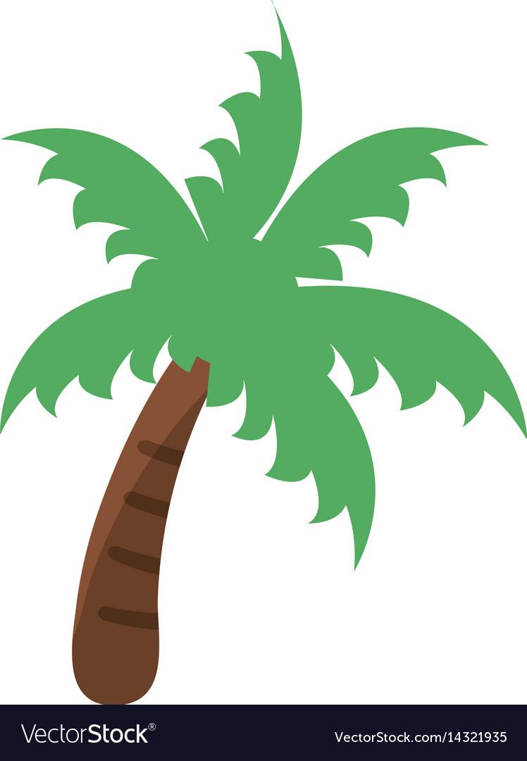 Palm Tree Beach Symbol Royalty Free Vector Image