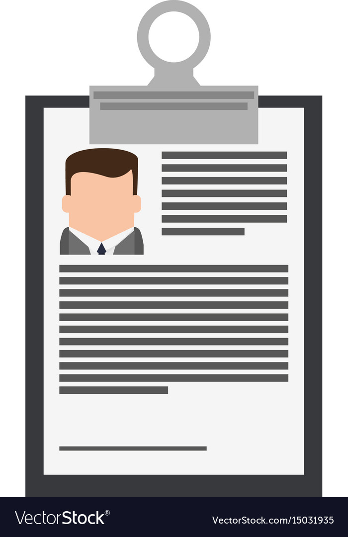 resume or curriculum vitae cv icon image vector image