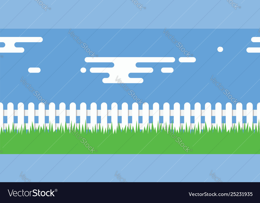 Rural with wooden picket fence